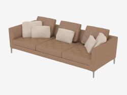 Leder Sofa Triple DS-48-03