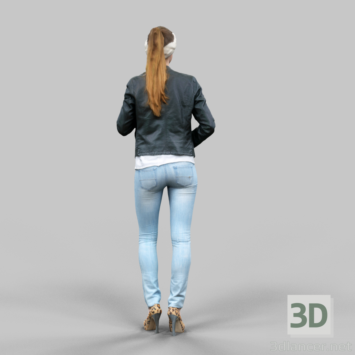 3d model real 3d woman - preview