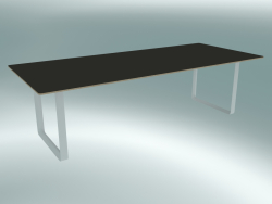Table 70/70, 255x108cm (Black, White)