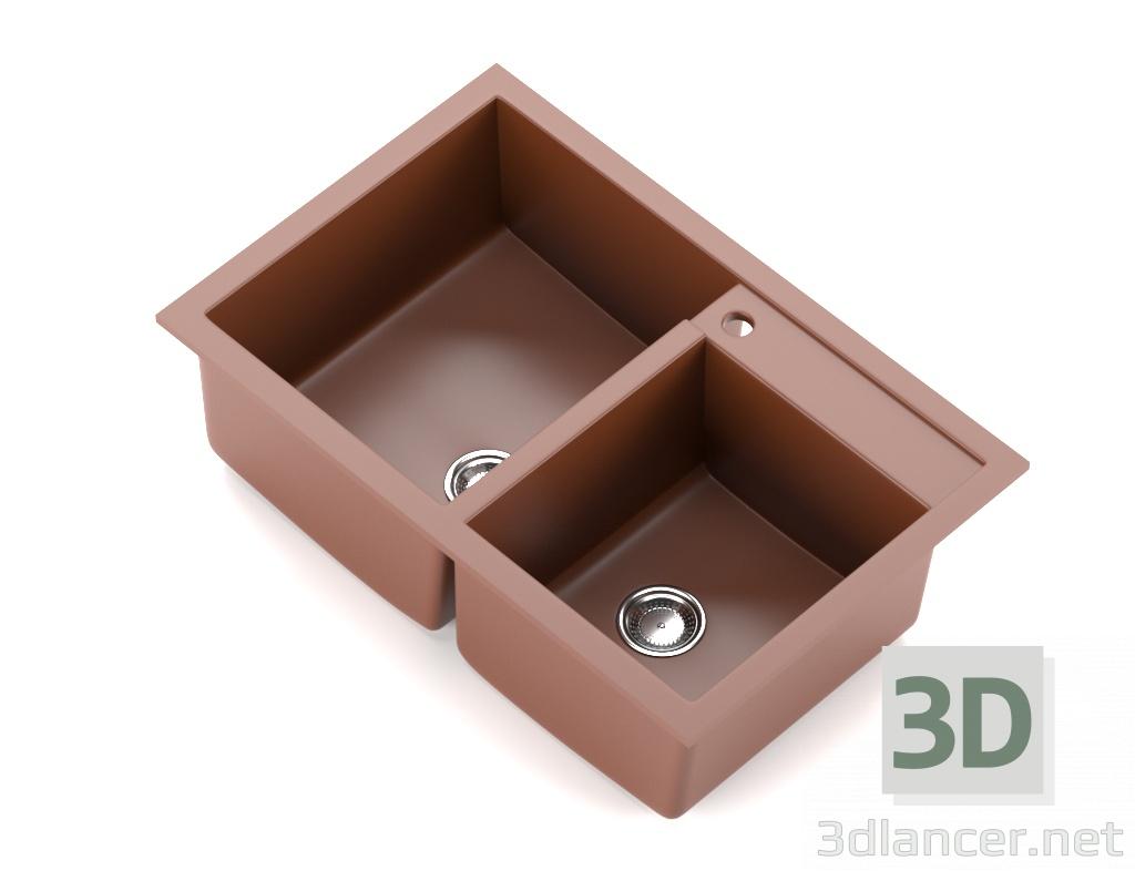 Küchenspüle 3D-Modell kaufen - Rendern