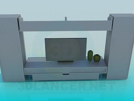 descarga gratuita de 3D modelado modelo Furniturer para televisión
