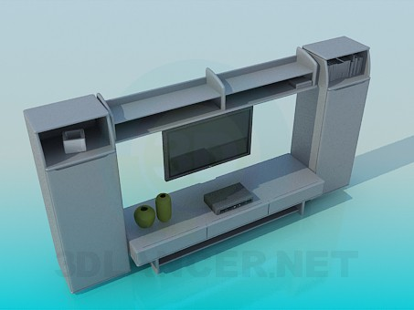 3d model Furniturer for television - preview