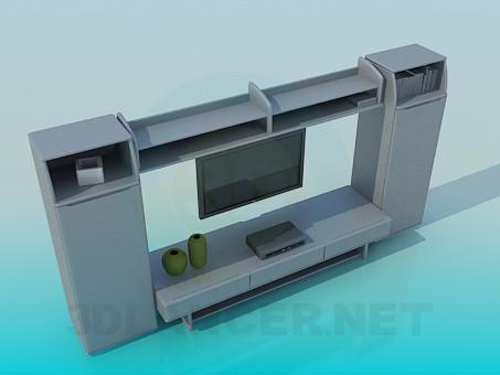 3d модель Мебель под телевизор – превью