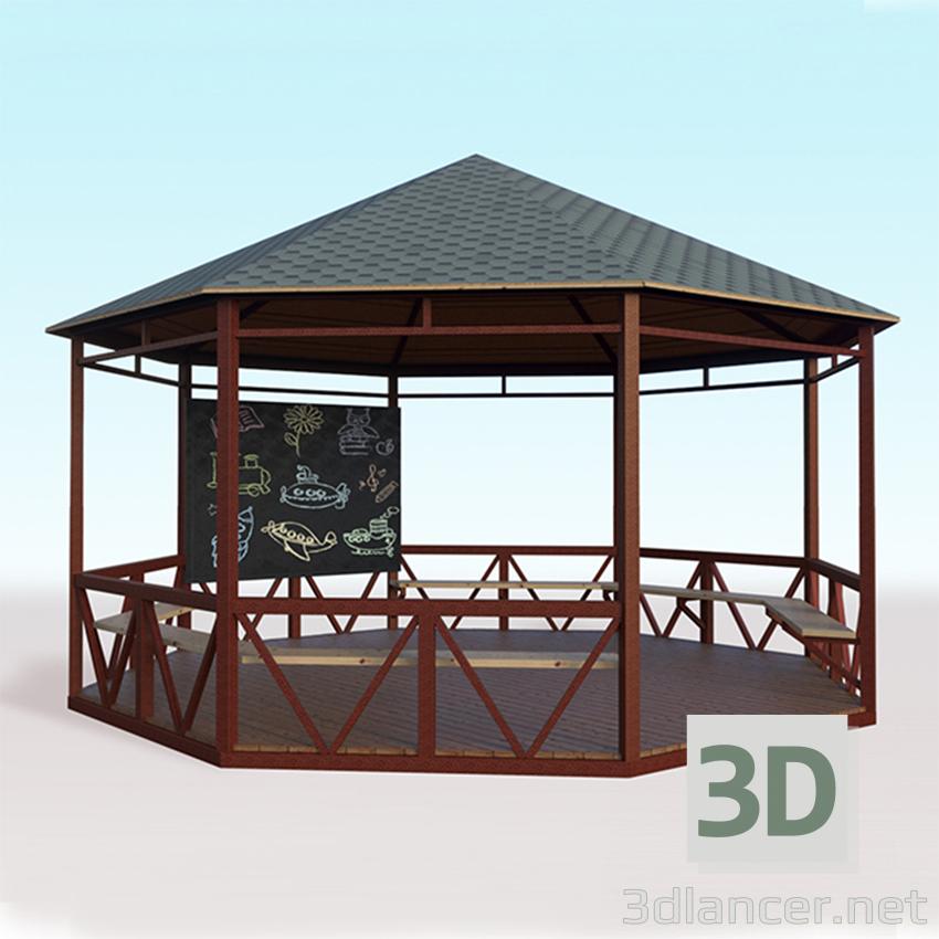 3d model Arbor para 24 asientos - vista previa