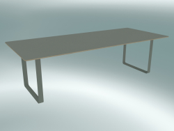 Table 70/70, 255x108cm (Gray)