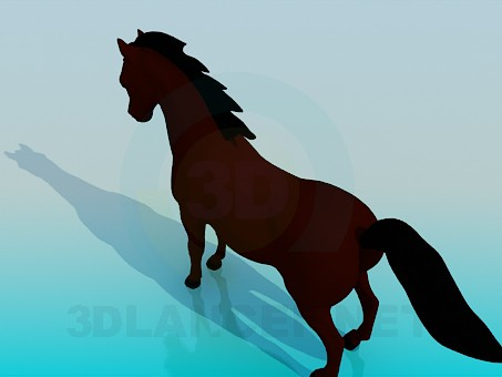 3d модель Лошадь – превью