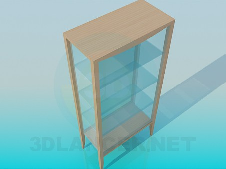 3d model Glazed rack-showcase - preview
