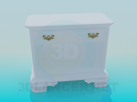 3d modeling White chest of drawers model free download