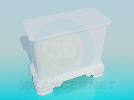 3d модель Білий комод – превью