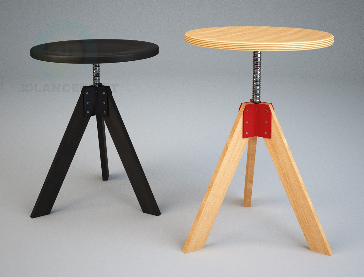 3d model Stool by Zanotta_Giotto - preview