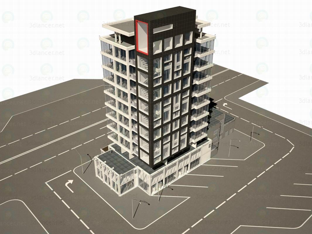 3d моделювання Будівля бізнес центру модель завантажити безкоштовно