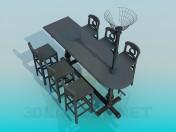 Стіл зі стільцями