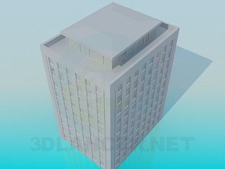 3d model High-rise building - preview