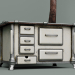 3d Old Soviet wood-fired stove (stove) model buy - render