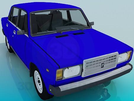 3d model VAZ 2107 - preview