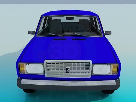 3d модель ВАЗ 2107 – превью