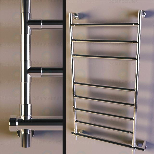 3d modeling heated towel rail model free download