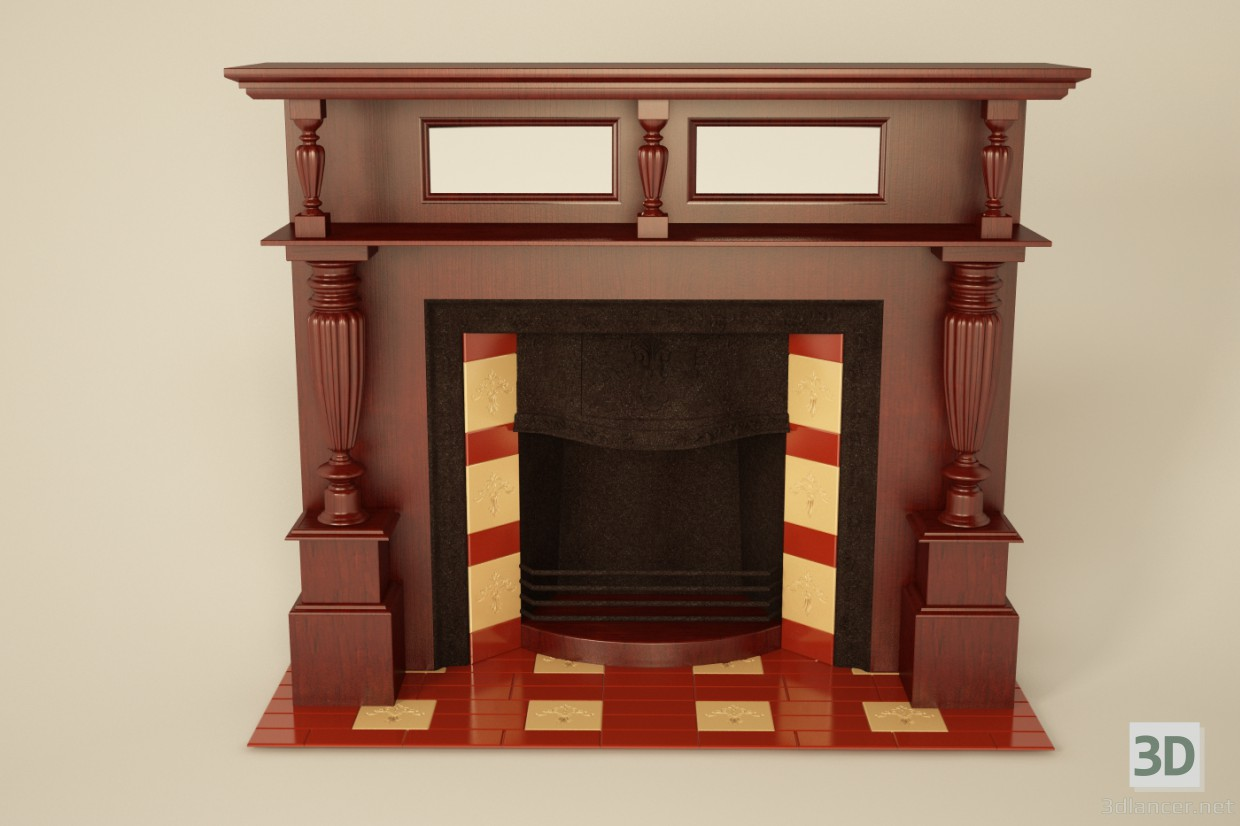 3d model Fireplace neo-classic - preview