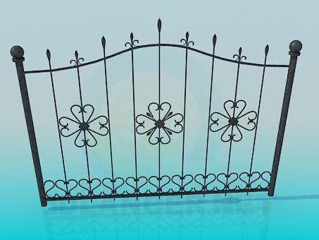 3d модель Кованые ворота – превью