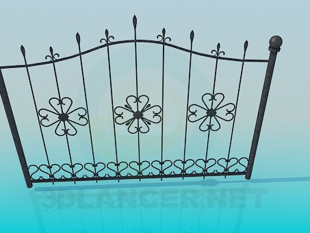 3d model Wrought Iron gates - preview