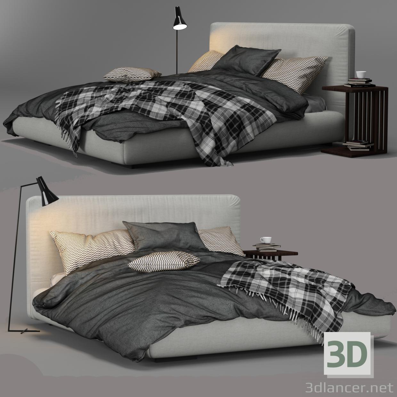 3d Magnum Bed By FlexForm model buy - render