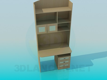 3d model Computer cabinet - preview