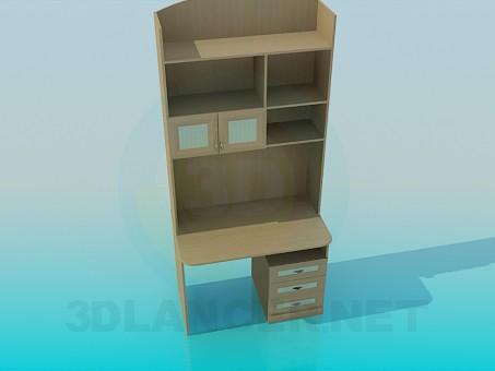 3d модель Компьютерный шкаф – превью