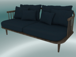 Sofa Double Fly (SC2, H 70cm, D 80cm, L 162cm, Smoked oiled oak, Harald 2 182)