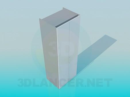 3d моделирование Шкаф двухдверный модель скачать бесплатно