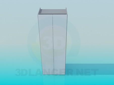 3d модель Шкаф двухдверный – превью
