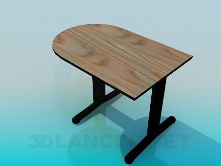 3d модель Небольшой пристеночный столик – превью