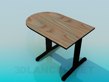3d модель Невеликий пристінковий столик – превью