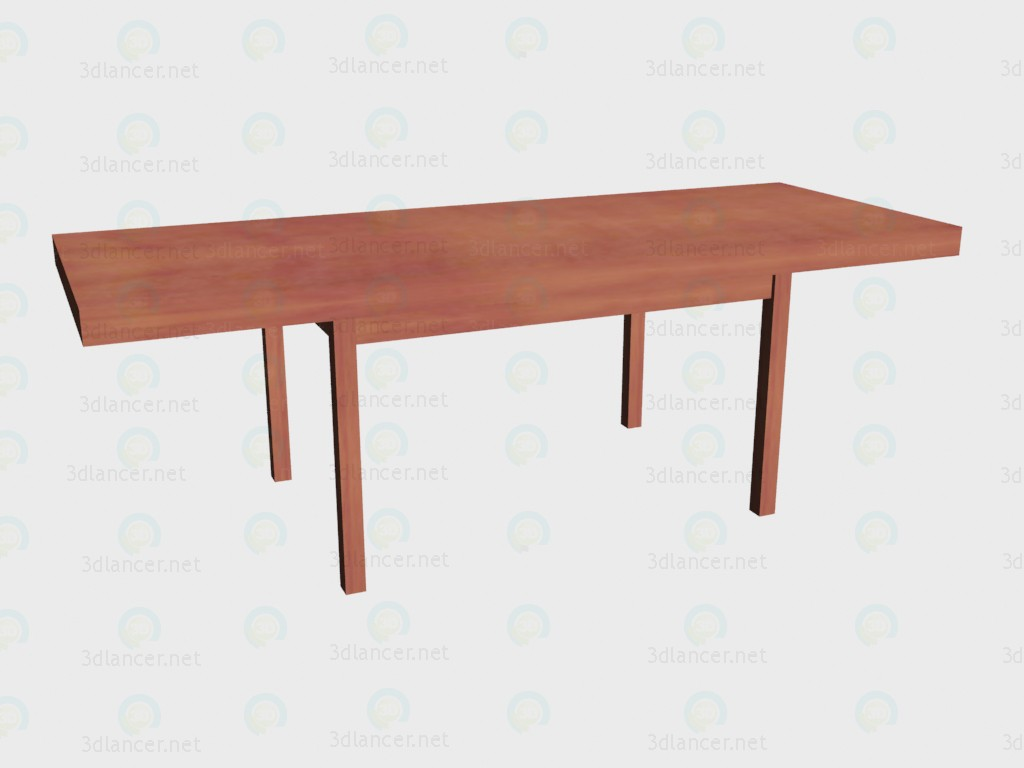 3d model Folding table (folded at maximum) - preview