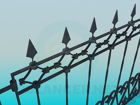 3d модель Кованый забор – превью