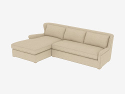 Sofa modular winklig SECTIONAL (7843-3101 A015-A LAF)