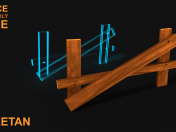 3D Broken Wooden Fence v1 Game asset - Low poly