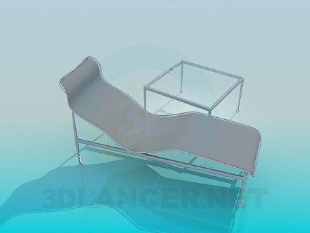 3d modeling Lounger and table included model free download