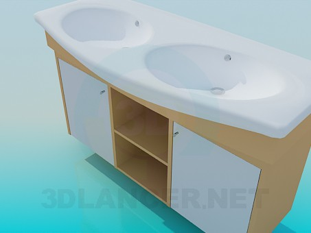 3d model Double wash basin - preview
