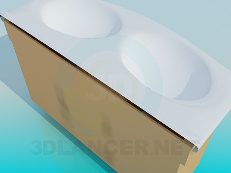 3d модель Подвійний умивальник – превью