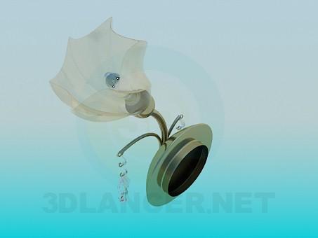 modelo 3D Hermosa lámpara de pared - escuchar