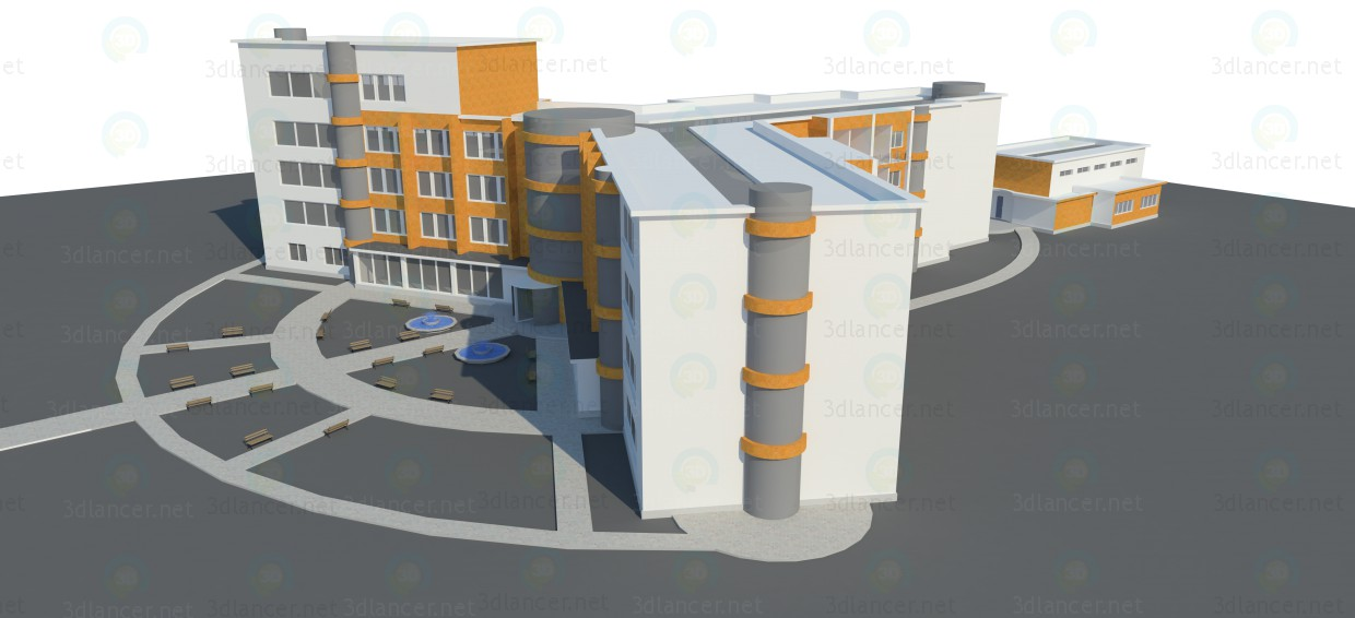 3d model University, skp, - Free Download | 3dlancer net