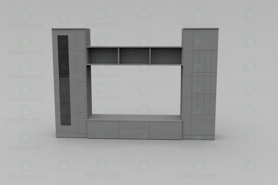 3d modeling The wall unit of the LV model free download