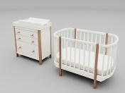 बच्चों के फर्नीचर सेट एलिप्स क्लासिक