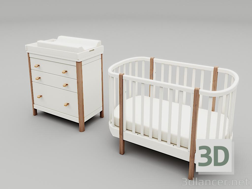 Modelo 3d Juego de muebles para niños Ellipse classic descarga ...