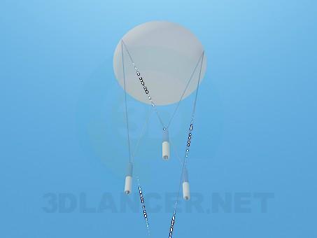 3d модель Припотолочный светильник – превью