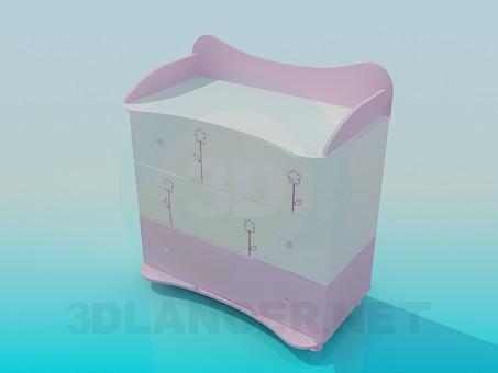 modelo 3D Cajonera para un recién nacido - escuchar