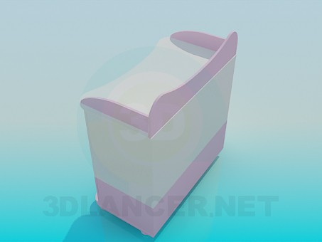 3d модель Комод для новорожденного – превью