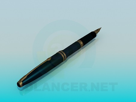 3d modeling Ink pen model free download