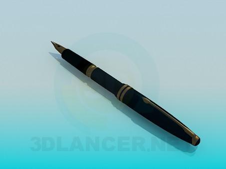 3d модель Чорнильна ручка – превью