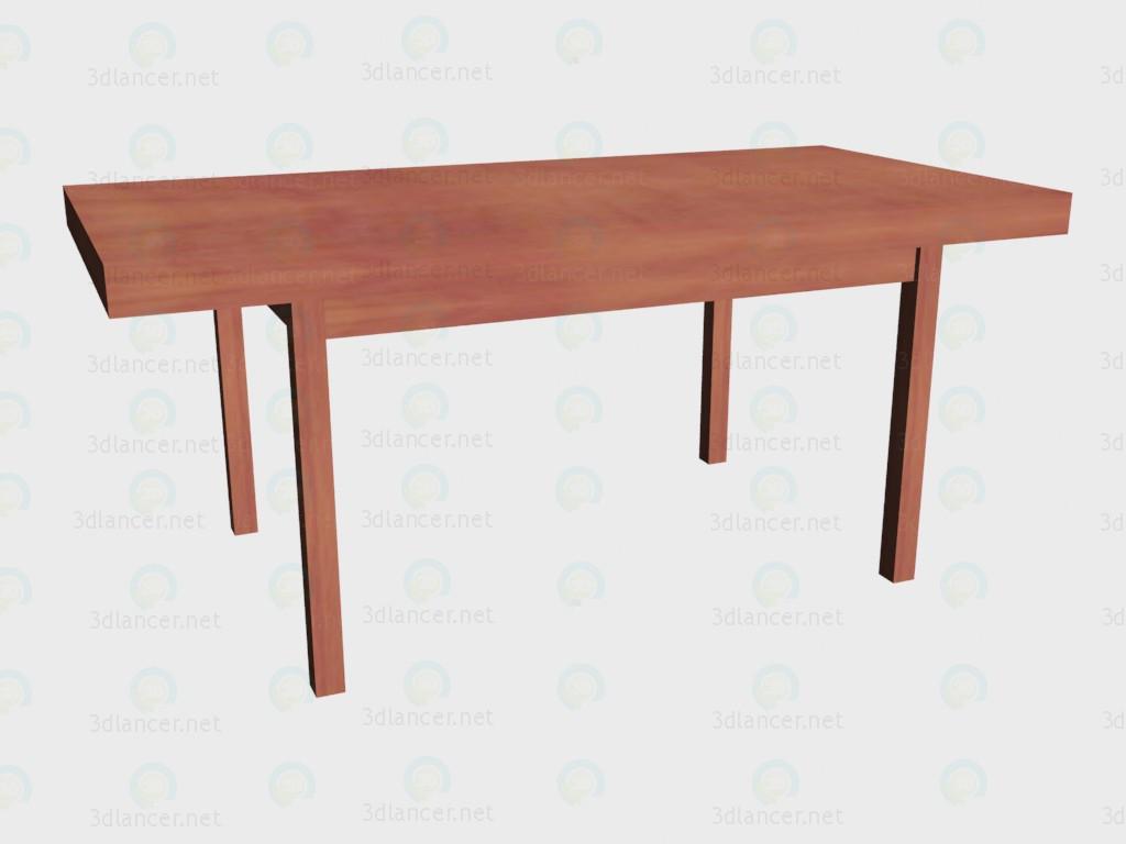 3d модель Стол розкладной (средне разложенный) – превью